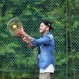 Anthony Kruger (ex-Tribal King) au tournoi de tennis de l'association Enfant star et match à Juan les Pins, le 9 juillet 2013.