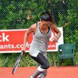 Zaho au tournoi de tennis de l'association Enfant star et match à Juan les Pins, le 9 juillet 2013.