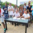 Les stars au tournoi de tennis de l'association Enfant star et match à Juan les Pins, le 9 juillet 2013.
