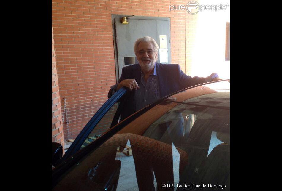 Placido Domingo a quitté le 13 juillet 2013 l'hôpital de Madrid où il avait été admis quelques jours plus tôt en raison d'une embolie pulmonaire. Direction la casa !
