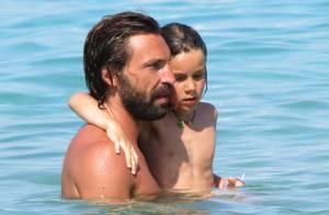 Andrea Pirlo : Père attentionné avec ses enfants sous l'oeil de sa belle Deborah