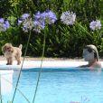 Michelle Hunziker enceinte, profite de ses vacances à Ibiza, le 20 juillet 2013