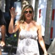 Jennifer Aniston sur le tournage de Squirrels to the Nuts à New York, le 18 juillet 2013.