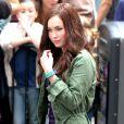 Megan Fox sur le tournage de Teenage Mutant Ninja Turtle à Times Square, New York, le 22 juillet 2013.