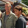 Alain Bernard et sa compagne Coralie Balmy au Village Roland-Garros le 7 juin 2009