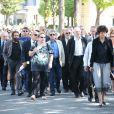 Marek Halter et Bernard Kouchneraux obsèques de Valérie Lang au cimetière de Montparnasse à Paris le 25 juillet 2013