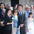Jack Lang, sa femme Monique et leur familleaux obsèques de Valérie Lang au cimetière de Montparnasse à Paris le 25 juillet 2013