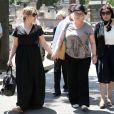 Marilou Berry, Josiane Balaskoaux obsèques de Valérie Langau cimetière de Montparnasse à Paris le 25 juillet 2013