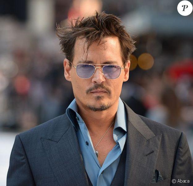 Johnny Depp lors de l'avant-première du film Lone Ranger à Londres le 21 juillet 2013