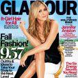 Jennifer Aniston en couverture du magazine  Glamour  US daté du mois de septembre 2013.