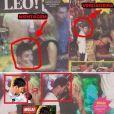 Montage expliquant comment Pronto aurait truqué les photos de Lionel Messi avec une strip-teaseuse.