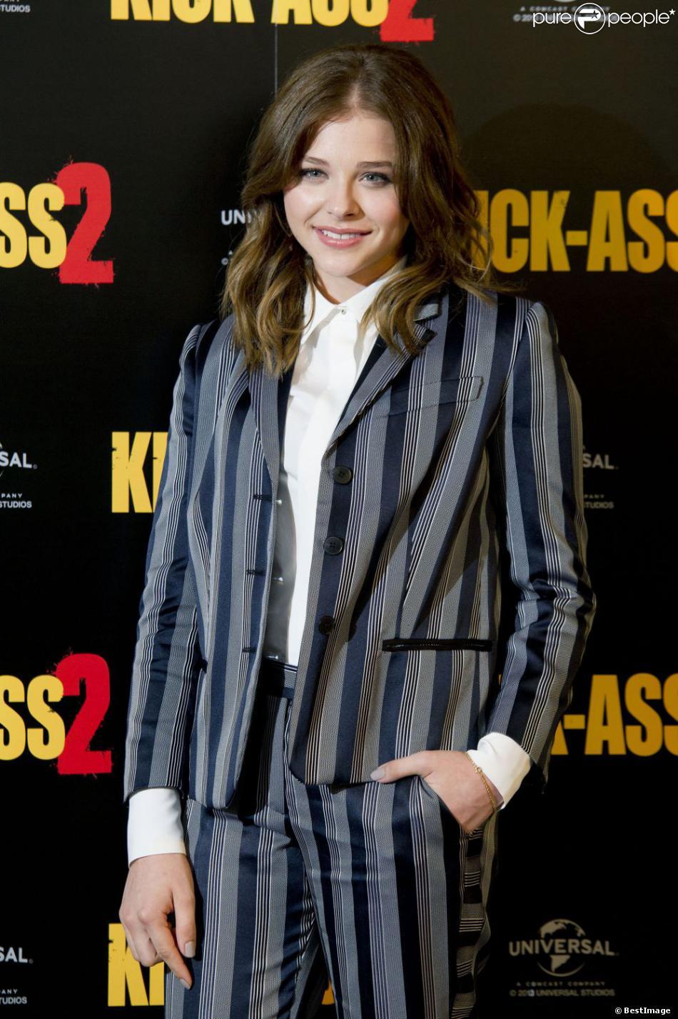 Chloë Grace Moretz lors du photocall du film Kick-Ass 2 à Londres le 5 août 2013.