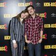 Chloe Moretz et Mintz-Plasse lors du photocall du film Kick-Ass 2 à Londres le 5 août 2013.