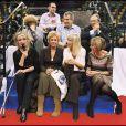 Brigitte Bardot, Mylene Demongeot, Dany Saval et Michel Rocard - Journée spéciale d'adoption à Levallois-Perret Le 11 décembre 2005.