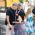 Alec Baldwin et Hilaria Thomas dans les rues de New York, le 15 août 2013.