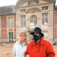 Michael Jackson et Debbie Rowe en Normandie, en juillet 1997.