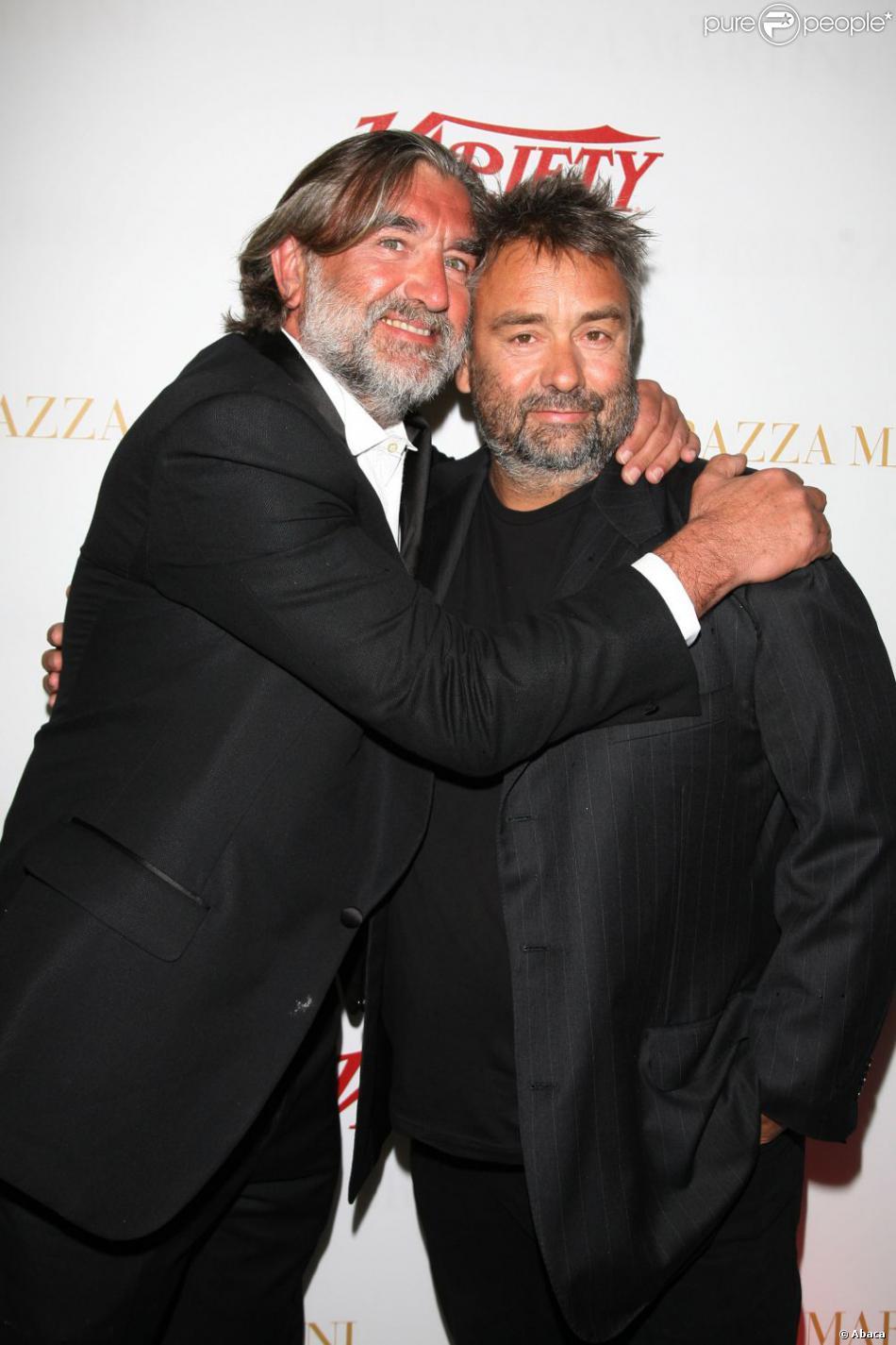 Les ex-associés d'EuropaCorp, Luc Besson et Pierre-Ange Le Pogam, au Festival de Cannes le 14 mai 2009.