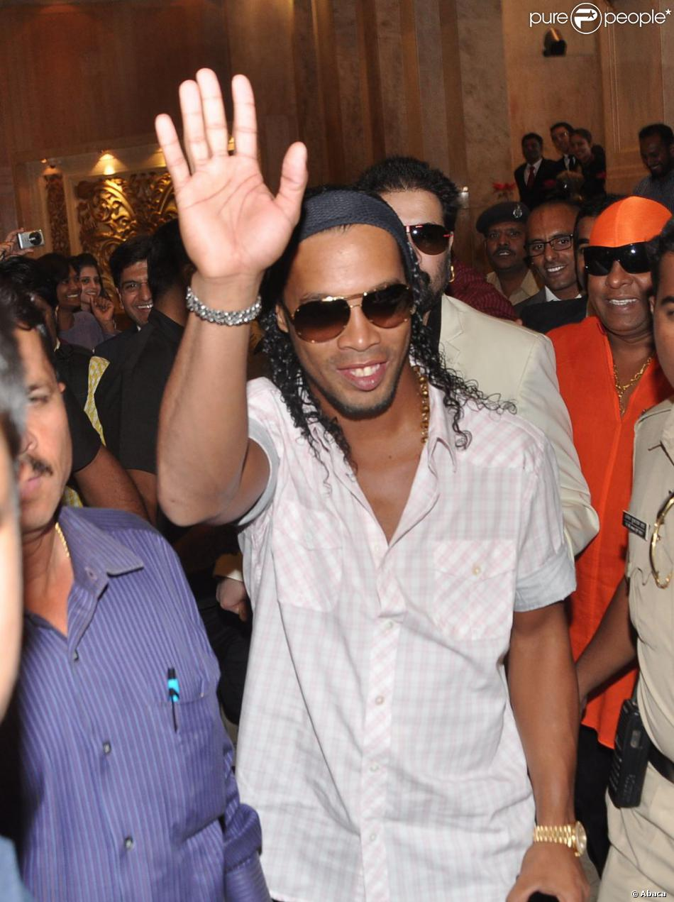 Ronaldinho à Pune, le 28 décembre 2012.
