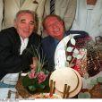 Charles Aznavour et Charles Trénet lors du Festival de Cannes 1996