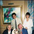 80e anniversaire de Charles Trénet, lors du Festival de Cannes 1996, en présence de Charles Aznavour.