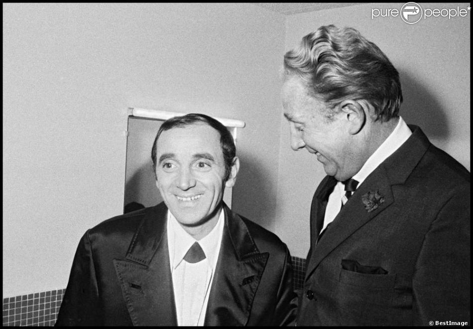 Charles Aznavour Et Charles Trénet Dans L'émission Le