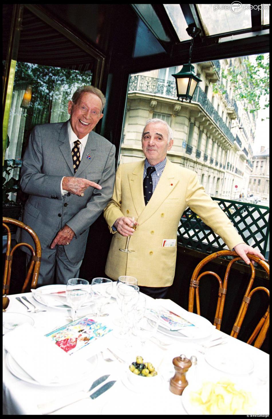 Charles Aznavour et Charles Trénet en 1999