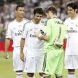 Cristiano Ronaldo, Raul, Iker Casillas et Kakaà Madridle 22 août 2013.