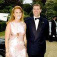 Sarah Ferguson et le prince Andrew, duc d'York, lors d'un gala à l agalerie Serpentine en 2000