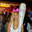 """""""Beyoncé au parc d'attractions de Coney Island pour le tournage de son clip à New York, le 29 août 2013."""""""
