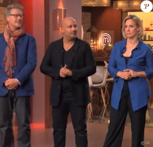 Frédéric Anton, Sébastien Demorand,Yves Camdeborde et Amandine Chaignot dans la quartrième saison de Masterchef sur TF1.
