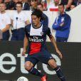 Edinson Cavani lors de la rencontre de Ligue 1 entre le PSG et Guingamp (2-0), au Parc des Princes, le 31 août 2013.