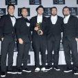JC Chasez, Lance Bass, Justin Timberlake, Chris Kirkpatrick et Joey Fatone dans les coulisses de ma cérémonie des MTV Video Music Awards au Barclays Center de Brooklyn, New York, le 25 août 2013.
