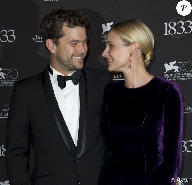 Joshua Jackson et Diane Kruger, couple ultra chic pour le dîner de gala donné par Jaeger-LeCoultre pour son 180e anniversaire à l'opéra La Fenice. Venise, le 2 septembre 2013.