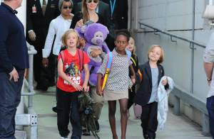 Angelina Jolie : Heureuse et arrivée à bon port, avec son adorable petite tribu