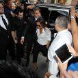Victoria Beckham arrive au restaurant Balthazar dans le quartier de SoHo. New York, le 8 septembre 2013.