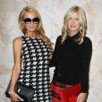 Paris et Nicky Hilton assistent au défilé Alice + Olivia printemps-été 2014. New York, le 9 septembre 2013.