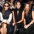 Olivia Palermo, Ashley Greene et Katie Cassidy assistent au défilé KaufmanFranco printemps-été 2014. New York, le 9 septembre 2013.