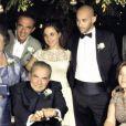 L'animateur Nikos Aliagas au mariage de sa soeur adorée Maria sur l'île paradisiaque de Kéa, située dans le Sud de la Grèce, week-end du 7 septembre 2013.