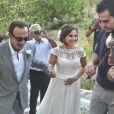 Nikos Aliagas au mariage de sa soeur sur l'île paradisiaque de Kéa, située dans le Sud de la Grèce, week-end du 7 septembre 2013.