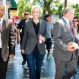 L'actrice Jane Lynch reçoit son étoile sur le Walk of Fame à Hollywood. Le 4 septembre 2013.