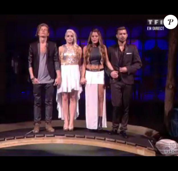 Anaïs, Alexia, Vincent et Gautier disent adieu à la Maison des Secrets - Finale de Secret Story 7. Le 13 septembre 2013.