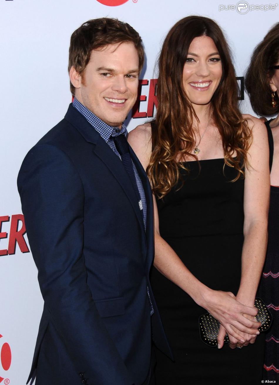 Michael C. Hall et Jennifer Carpenter lors de la soirée de lancement de la dernière saison de la série Dexter, le 15 juin 2013 à Los Angeles.