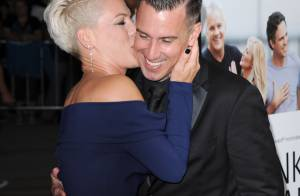 Pink : Glamour et amoureuse avec son homme face à Gwyneth Paltrow, radieuse