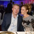 Mika Häkkinen et sa compagne Marketa Kromatova lors de la soirée de la Coupe des Présidents Hermès Eagle 2013 à Bad Griesbach le 14 septembre 2013