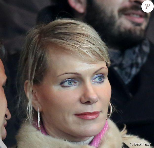 Margarita Louis-Dreyfus, patronne de l'OM à la tête d'une fortune personnelle de 5,5 milliards d'euros, au Parc des Princes à Paris le 27 février 2013