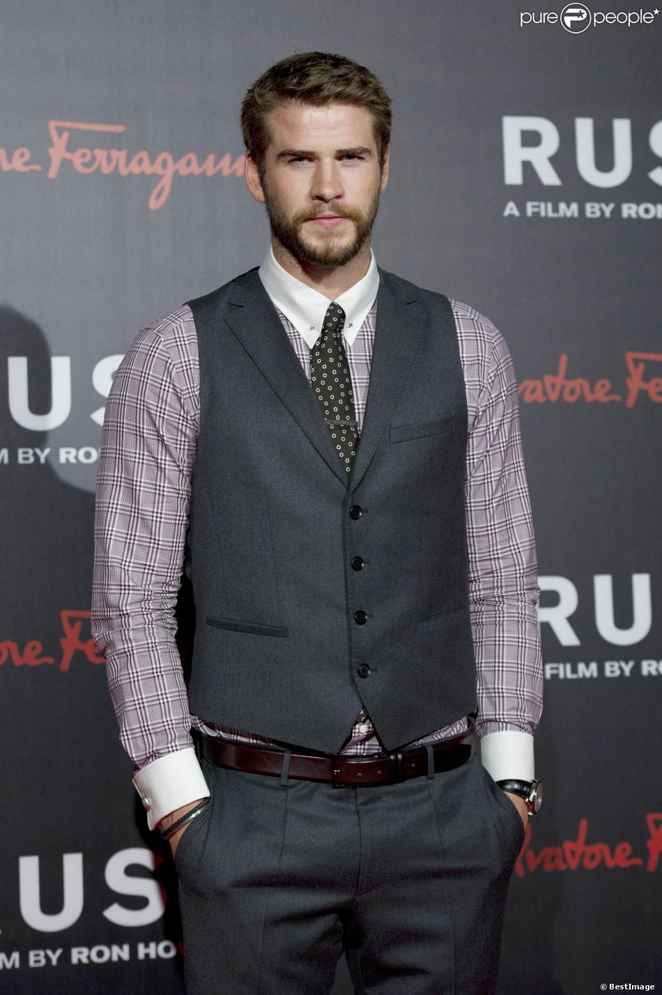 """Liam Hemsworth à la premiere du film """"Rush"""" à Londres. Le 2 septembre 2013."""