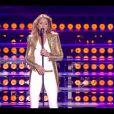 """Céline Dion chante live """"Loved Me back To Life"""" lors de son concert sur les plaines d'Abraham à Québec, le 27 juillet 2013."""