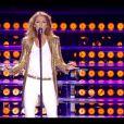 """Céline Dion interprète """"Loved Me back To Life"""" lors de son concerts sur les plaines d'Abraham à Québec, le 27 juillet 2013."""