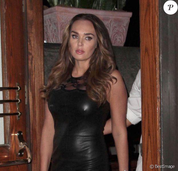Petra et Tamara Ecclestone lors d'un dîner au restaurant Madeo de West Hollywood le 18 septembre 2013 avec le mari de Tamara, Jay Rutland