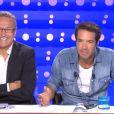 """Laurent Ruquier et Nicolas Bedos dans """"On n'est pas couché"""", le samedi 21 septembre sur France 2."""